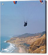 Torrey Pines Paragliders Acrylic Print by Anna Lisa Yoder