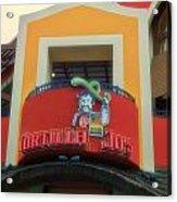 Tortilla Jos Signage Downtown Disneyland Acrylic Print