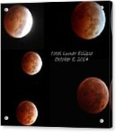 Total Lunar Eclipse Stages Collage Acrylic Print