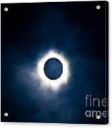 Total Solar Eclipse With Visible Corona Acrylic Print