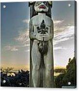 Totem At White Rock Acrylic Print