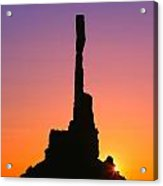Totem Pole In Monument Valley Acrylic Print