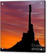 Totem Pole Sunrise Acrylic Print