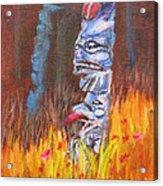Totems Of Haida Gwaii Acrylic Print