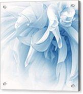 Touch Of Blue Dahlia Flower Acrylic Print