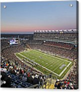 Touchdown New England Patriots  Acrylic Print by Juergen Roth