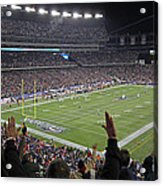 Touchdown Patriots Nation Acrylic Print by Juergen Roth