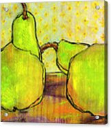 Touching Green Pears Art Acrylic Print