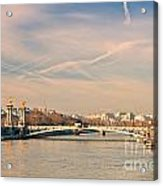 Tour Eiffel And Alexandre IIi Bridge - Paris  Acrylic Print