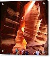 Touring Antelope Canyon Acrylic Print