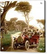 Royal Tourist Touring Car On The 17 Mile Drive Pebble Beach California Circa 1910 Acrylic Print