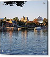 Touring On The World Showcase Lagoon Walt Disney World Acrylic Print