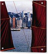 Tourist Boat Junk Sails Framing Acrylic Print