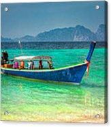 Tourist Longboat Acrylic Print