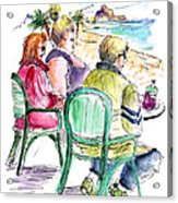 Tourists On The Costa Blanca In Spain Acrylic Print