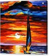 Towards The Sun - Palette Knife Oil Painting On Canvas By Leonid Afremov Acrylic Print