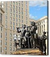 Tower And Statuary Acrylic Print
