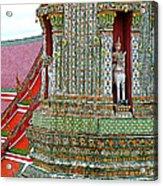 Tower At Temple Of The Dawn-wat Arun In Bangkok-thailand Acrylic Print