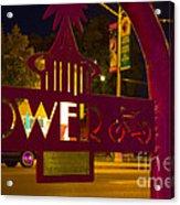 Tower Bike Rack Acrylic Print