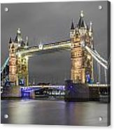 Tower Bridge Color Mix Acrylic Print
