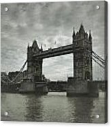 Tower Bridge In London Over The Thames Acrylic Print