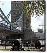 Tower Bridge In The City Of London Acrylic Print