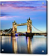 Tower Bridge Located In London Acrylic Print