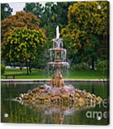 Tower Grove Fountain Acrylic Print