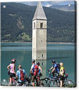 Tower In The Lake Acrylic Print