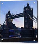 Tower Of London At Dawn Acrylic Print