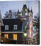 Tower Of London Christmas Tree Acrylic Print