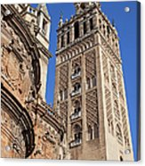 Tower Of The Seville Cathedral Acrylic Print