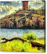 Tower On The Bluff Acrylic Print