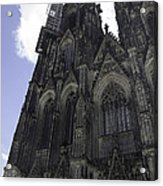 Tower Scaffolding Cologne Cathedral Acrylic Print