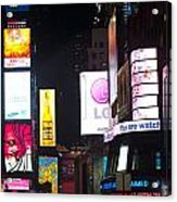 Towering Ads Acrylic Print