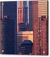 Towers And Sailboat Acrylic Print