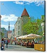 Towers As Gateways To Old Town Tallinn-estonia Acrylic Print