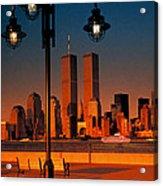 Towers Framed Acrylic Print