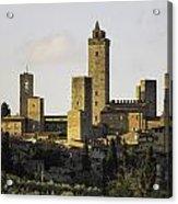 Towers Of San Gimignano Acrylic Print