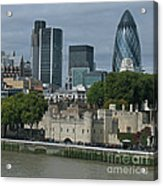 Towers Old And New Acrylic Print