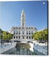 Town Hall In Porto Portugal Acrylic Print