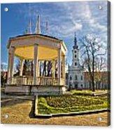 Town Of Bjelovar Central Park Acrylic Print