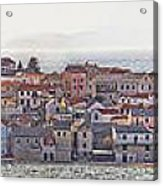 Town Of Primosten Panoramic View Acrylic Print
