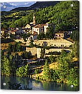 Town Of Sisteron In Provence Acrylic Print