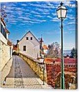 Town Of Varazdinske Toplice Walkway Acrylic Print