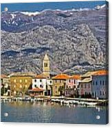 Town Of Vinjerac In Front Of Paklenica National Park Acrylic Print