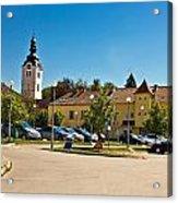 Town Of Vrbovec In Croatia Acrylic Print