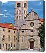 Town Of Zadar Historic Church Acrylic Print