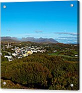 Town On A Hill With 12 Pin Mountain Acrylic Print