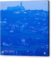 Town With Chateau De Polignac Acrylic Print